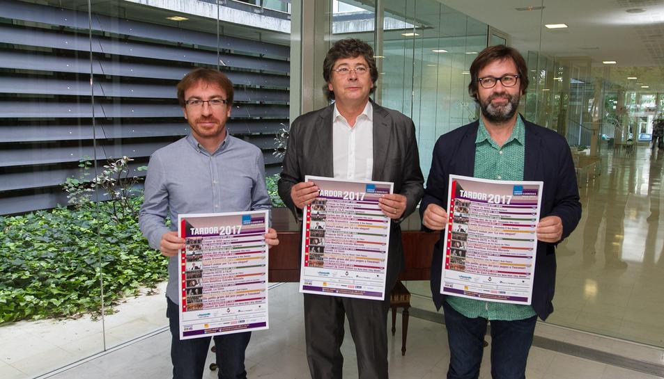 Els responsables de la programació de l'Auditori Josep Carreras a la presentació de la temporada.