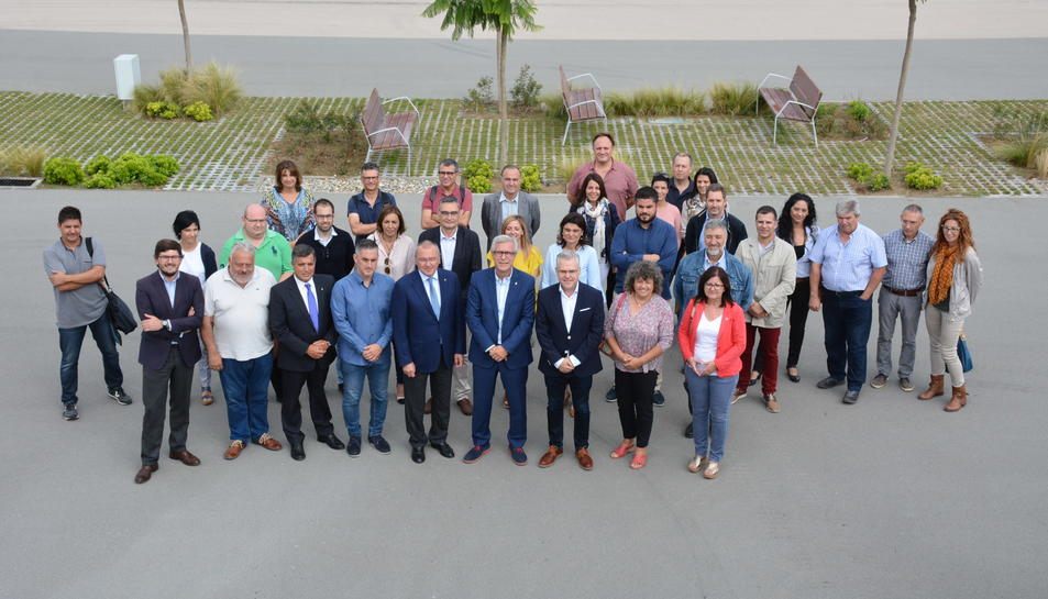 Reunió d'aquest matí dels alcaldes i consellers de les ciutats seu Jocs Mediterranis.