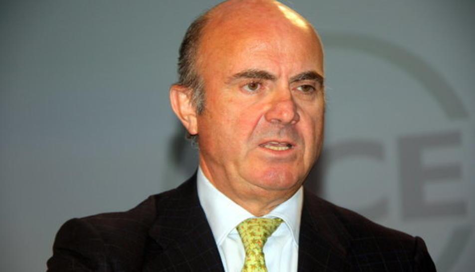 Imatge en un primer pla del ministre d'Economia i Competitivitat, Luis de Guindos.