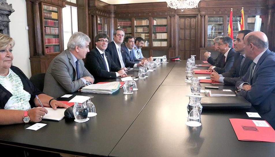 Imatge general de la reunió de la Junta de Seguretat de Catalunya.