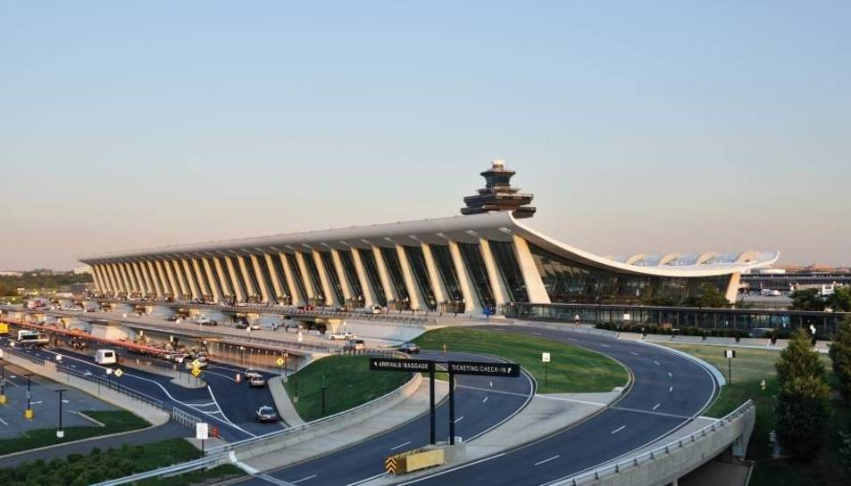 El aeropuerto internacional de Washington (EE UU).