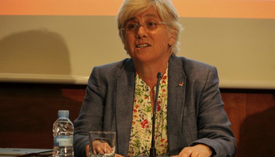 Imatge d'arxiu de la consellera d'Ensenyament, Clara Ponsatí.