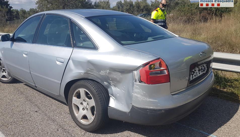 El cotxe va quedar aturat al carreil lateral de l'AP-7 a l'altura de Reus.