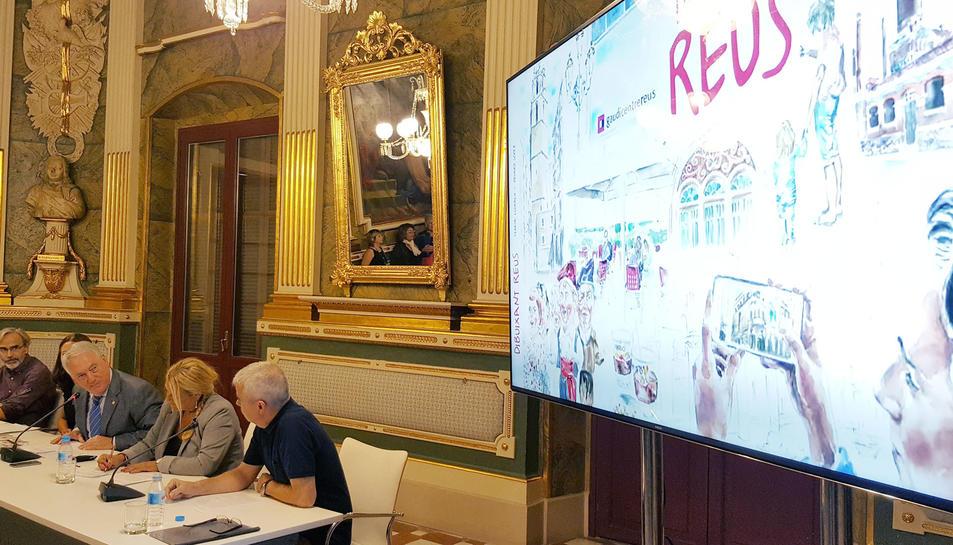 Imatge de la presentació ahir.