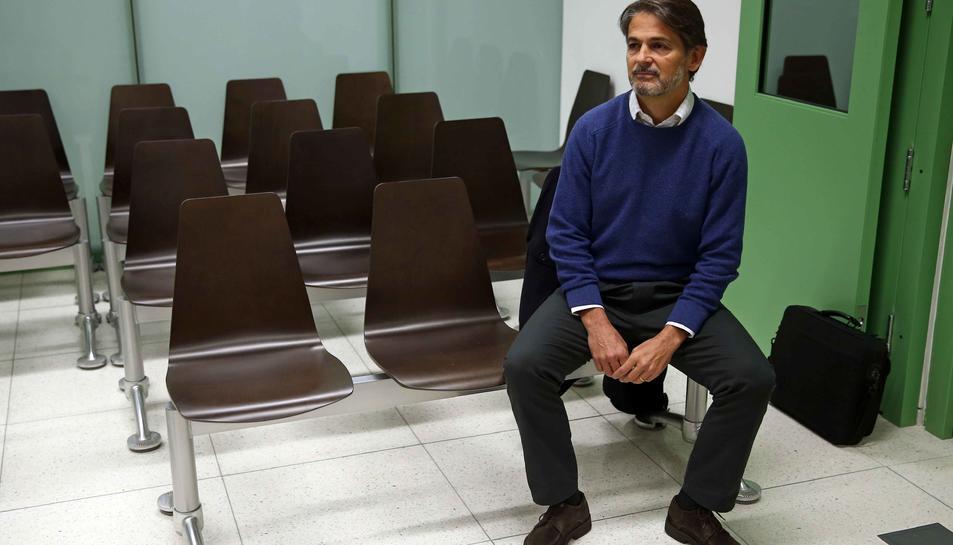 Imatge d'Oriol Pujol al jutjat de Barcelona al 2016.