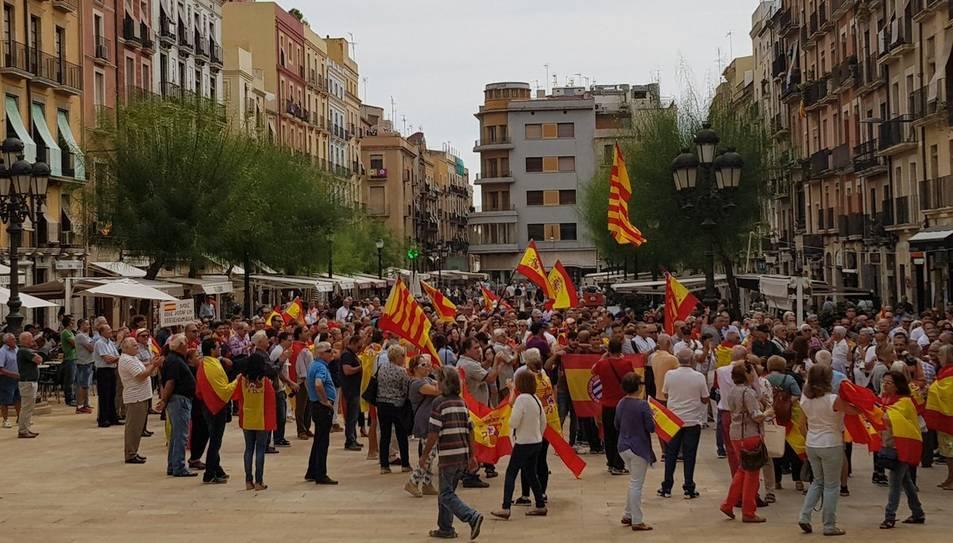 Concentració a favor de la unitat d'Espanya a Tarragona.