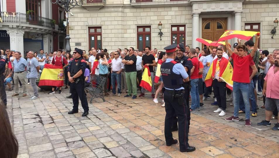 Concentració espanyolista a Reus.