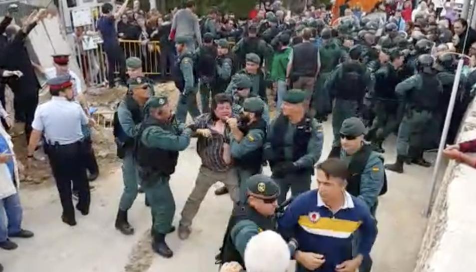 Actuació de la Guàrdia Civil a Vilabella.