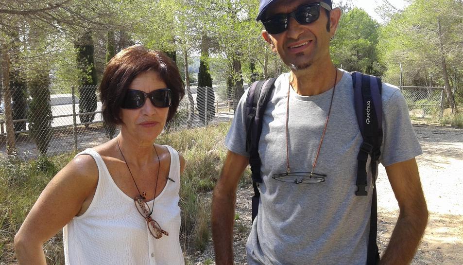 Raquel i José Ignacio van quedar captivats per la pedrera romana.