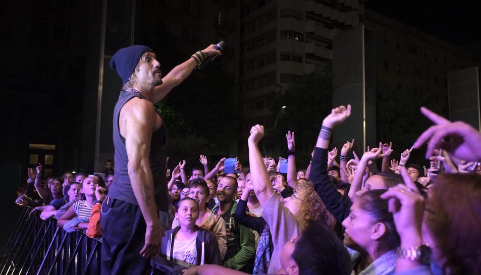 El solista Macaco en un moment del concert de la Kapital.