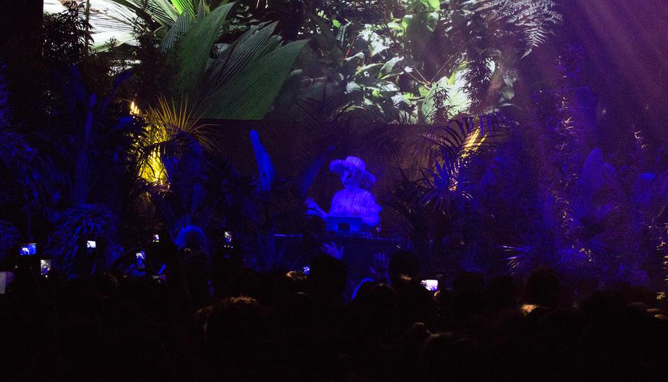 Björk en el concert inaugural del Sónar 2017.