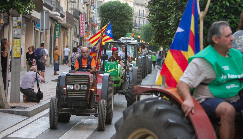 Els pagesos es van sumar a la manifestació.