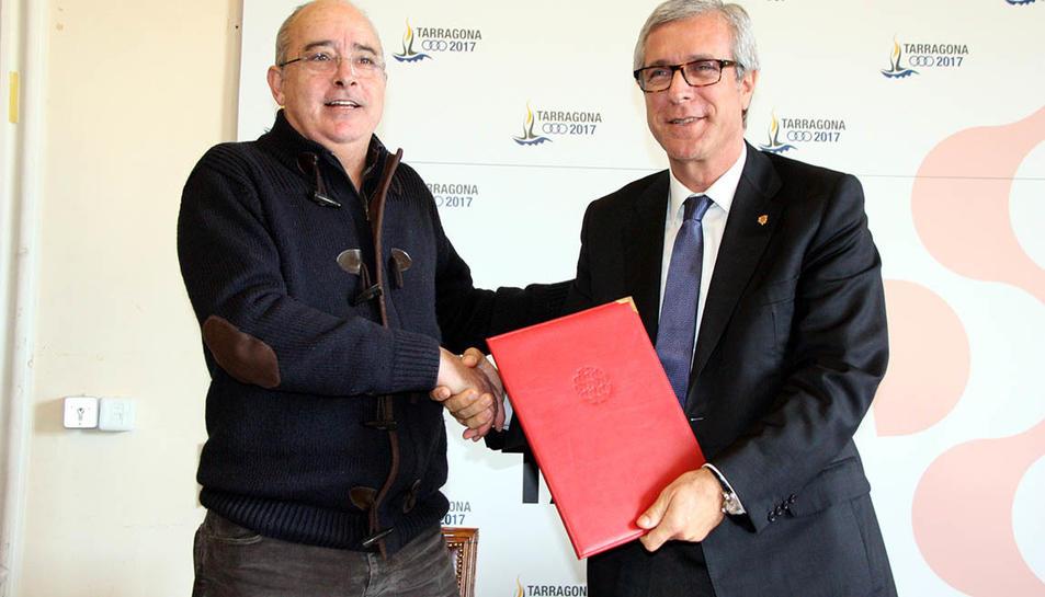 Josep Bargalló i Josep Fèlix Ballsteros, en una imatge d'arxiu.
