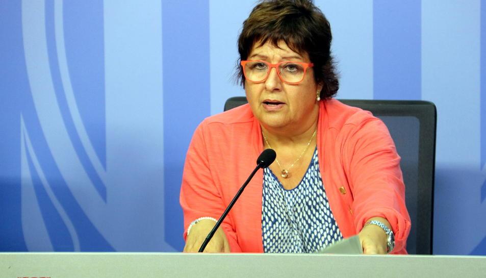 La consellera de Treball, Afers Socials i Famílies, Dolors Bassa, aquest 3 d'octubre.