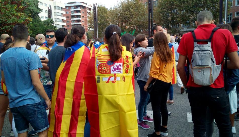 Concentració a la Imperial Tarraco davant de la Subdelegació del Govern a Tarragona