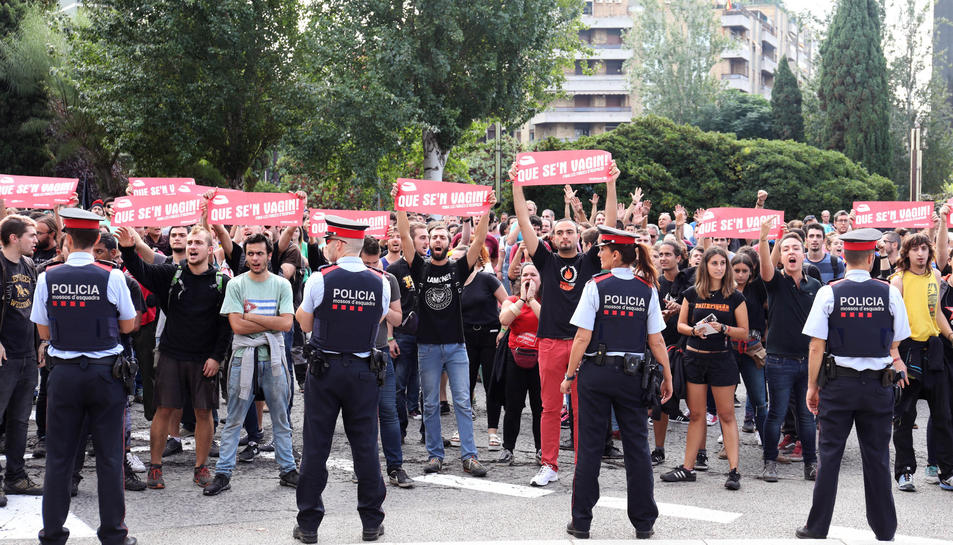 Imatge de la concentració aquest dimarts a la plaça Imperial Tàrraco.