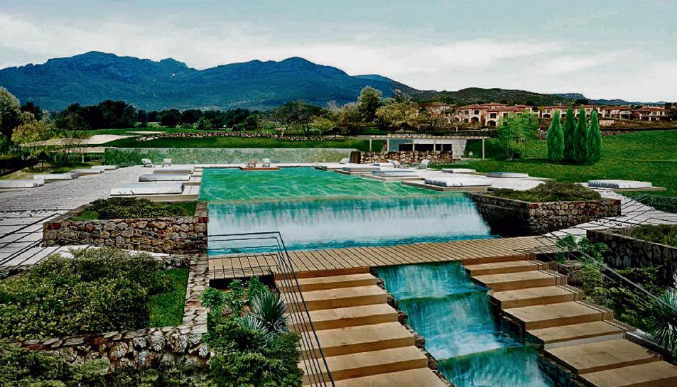 Imatge virtual de la piscina exterior del nou spa, que estarà obert a hostes i clients externs.