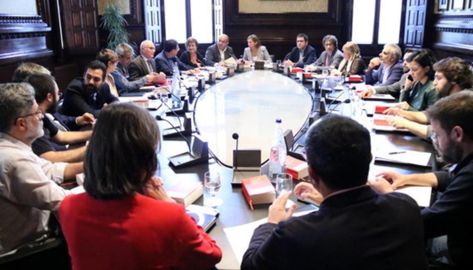 Reunió de la Junta de Portaveus al Parlament, el 4 d'octubre de 2017.