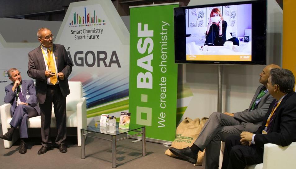 Participants de l'empresa BASF en Expoquimia, on han tingut una destacada presència.