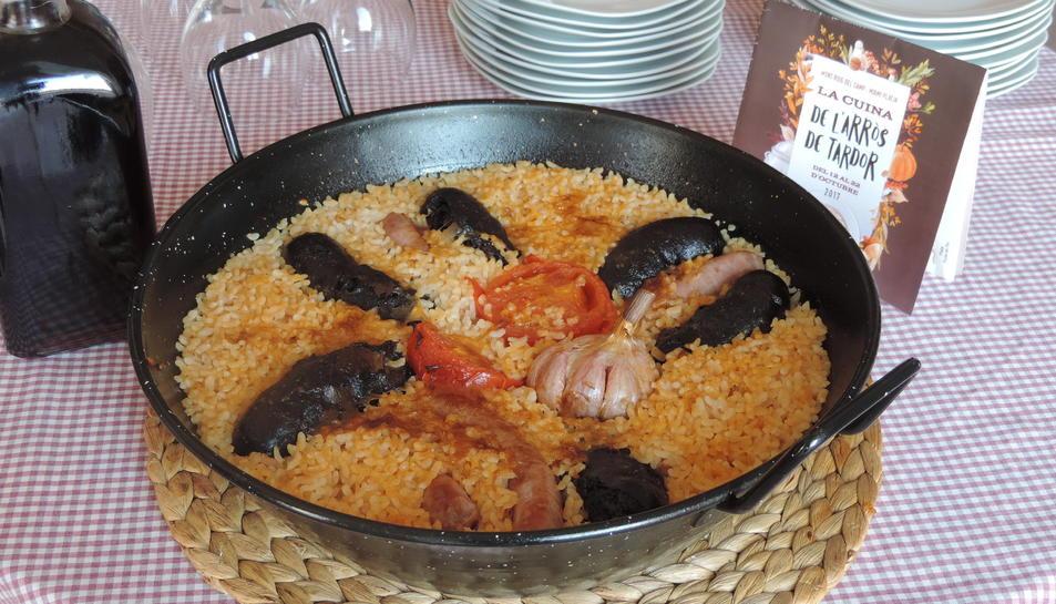 Un dels plats que es podran degustar en el marc de la campanya és l'arròs de muntanya de la tardor.