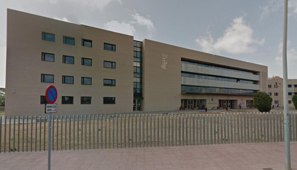 Imatge de l'exterior del Jutjat de Menors número 1 de Castelló.