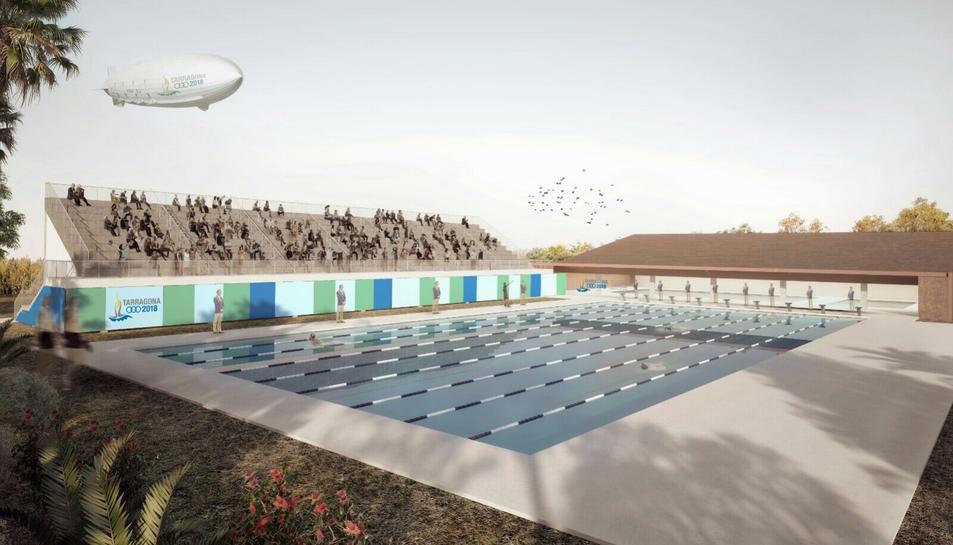 Imatge virtual de la piscina projecta dels Jocs Mediterranis.