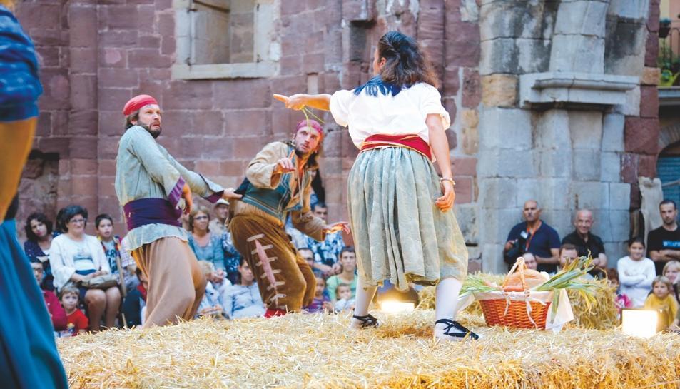 Obra de Teatre a la Fira de Bandolers d'Alcover al 2016.