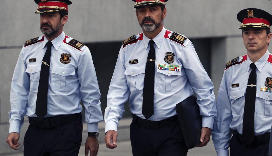 El major dels mossos, Josep Lluís Trapero, a la seva arribada a l'Audiència Nacional.