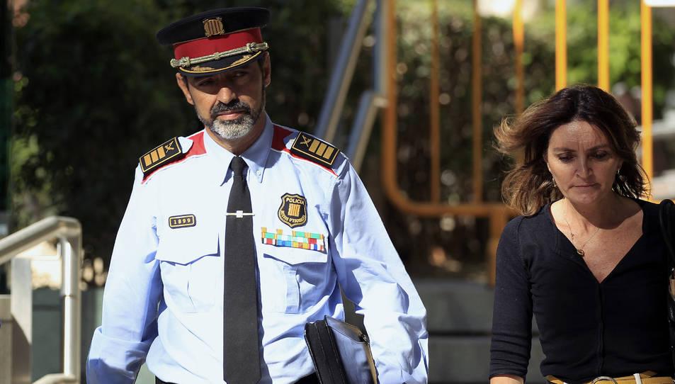 Josep Lluís Trapero abandona l'Audiència Nacional.
