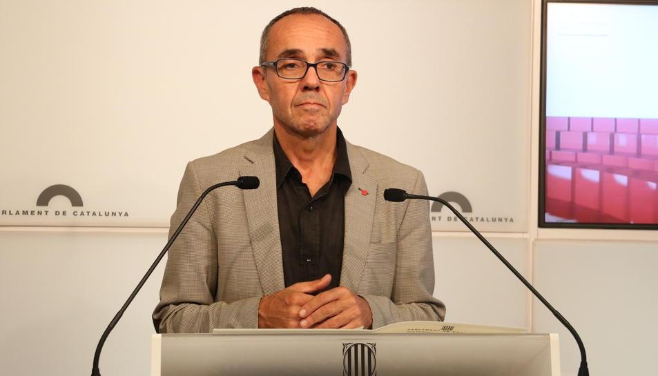 El portaveu de CSQP, Joan Coscubiela, el 6 d'octubre del 2017 al Parlament.