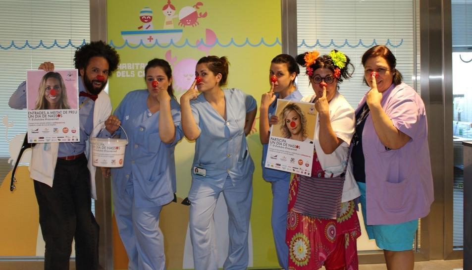 Imatge dels Pallapupas quan es va engegar el 19 de setembre la campanya 'Un dia de nassos' a l'Hospital Joan XXIII de Tarragona.