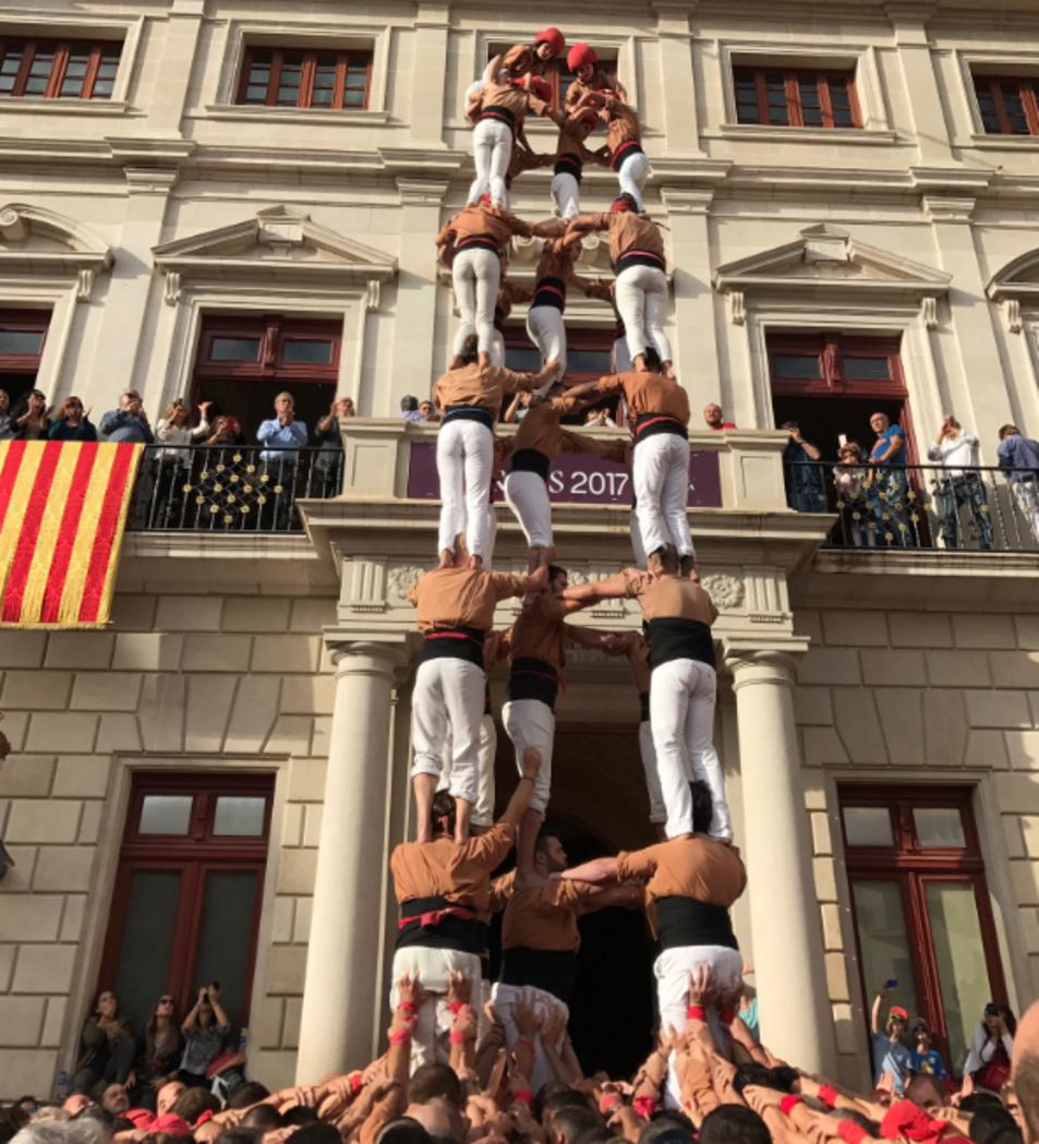 5de8 dels Xiquets de Reus a la Diada del Mercadal.