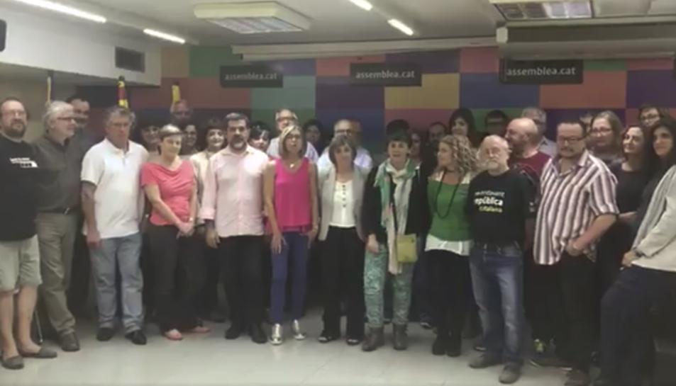 Imatge del vídeo en què diversos membres de l'ANC asseguren que es declararà la independència.