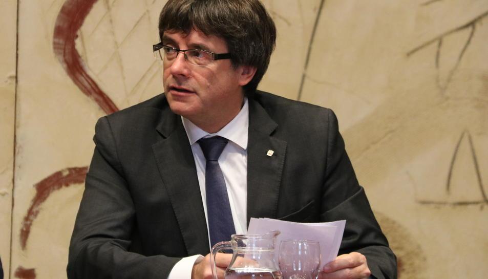 Imatge d'arxiu del president de la Generalitat, Carles Puigdemont.
