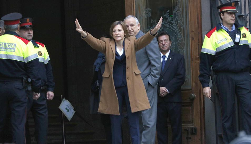 Imatge d'arxiu de la presidenta del Parlament, Carme Forcadell, sortint del TSJC el passat 16 de desembre.