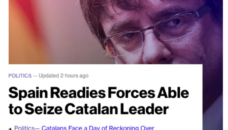 La notícia obre l'edició digital del mitjà.