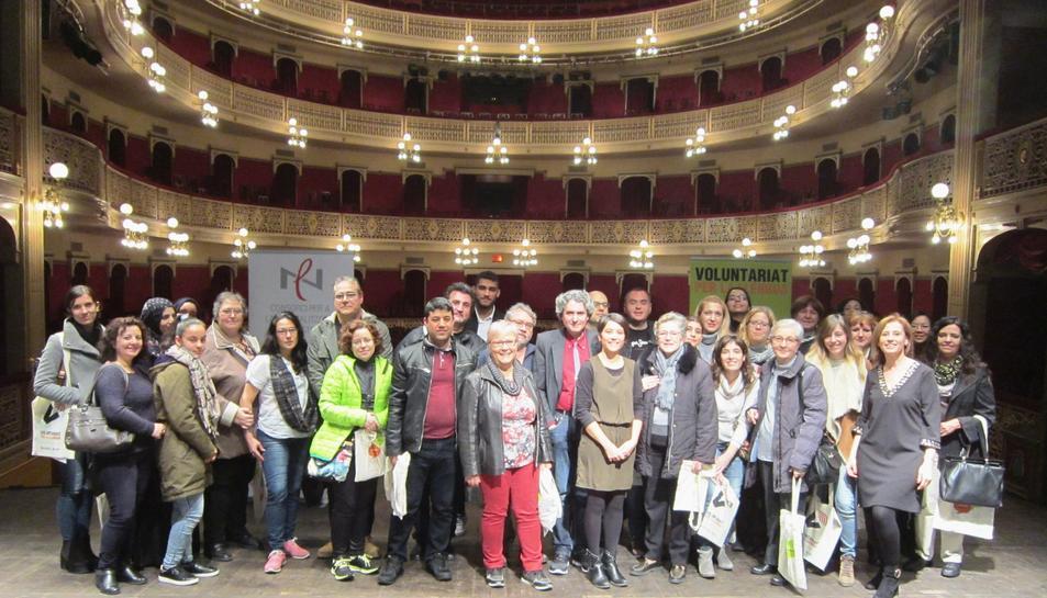 Presentació de parelles lingüístiques el febrer passat al Teatre Fortuny.