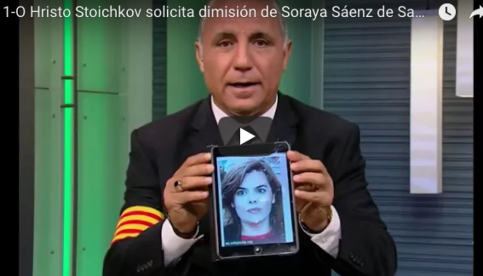 Stoichkov, parlant de Soraya Sáenz de Santamaría.