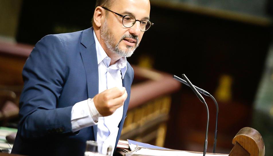 El portaveu del PDeCAT, Carles Campuzano, al Congrés dels Diputats.