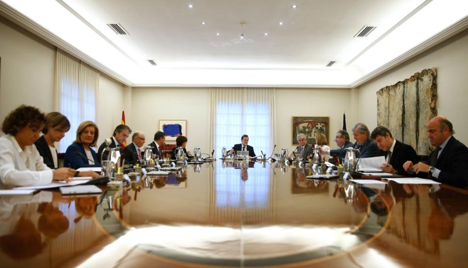 Imatge del Consell de Ministres extraordinari d'aquest 11 d'octubre.