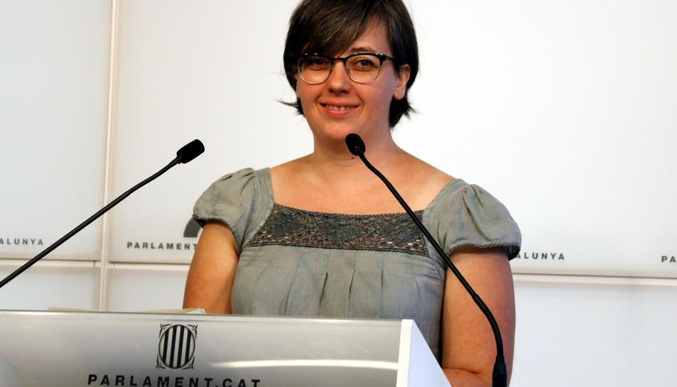 Imatge d'arxiu de la diputada de la CUP, Mireia Boya.