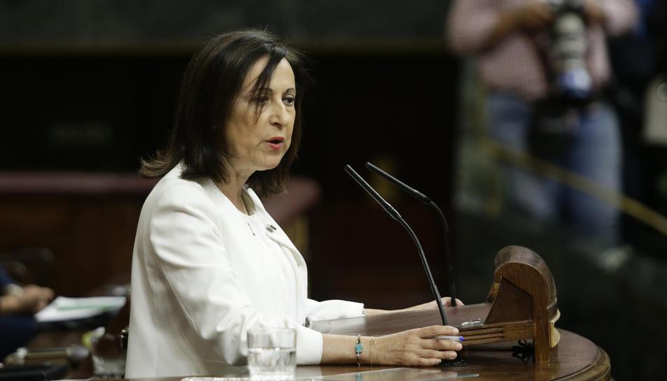 La portaveu del PSOE, Margarita Robles, intervenint al Congrés aquest 11 d'octubre.