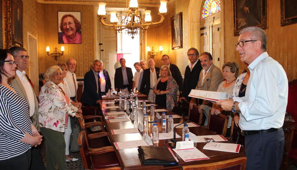 El Senat tarragoní s'ha reunit aquest dimecres a la sala d'actes de l'Ajuntament.