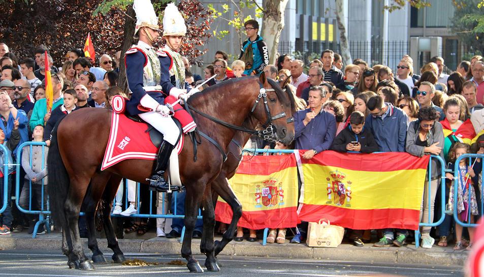 Un dels moments de la desfinala militar del 12 d'octubre a Madrid.