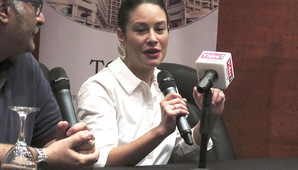 L'actriu participant a un seminari del FEstival de Ci9nema d'Alexandria.