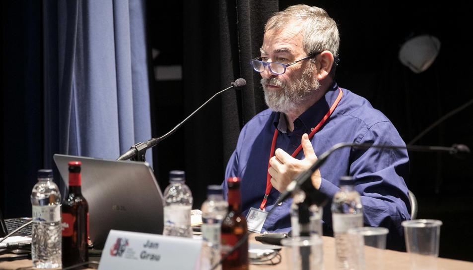 Jan Grau, durant la seva intervenció.