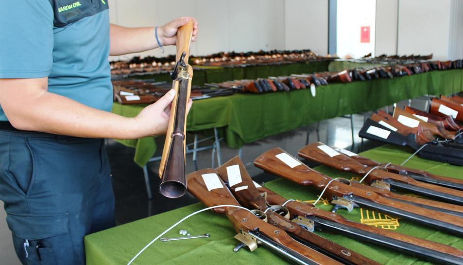 LEs armes estaran exposades a la comandància del 16 al 20 d'octubre.