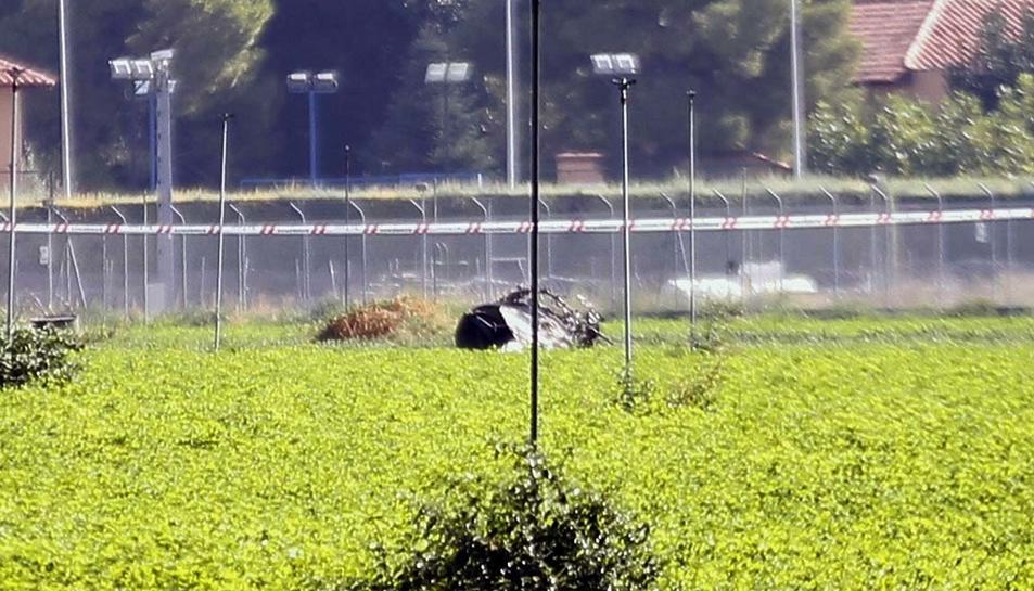L'avió es va estavellar a prop de la base de Los Llanos, a Albacete