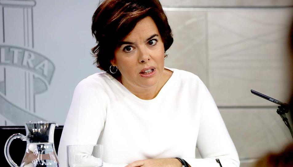 La vicepresidenta del govern espanyol, Soraya Sáenz de Santamaría,