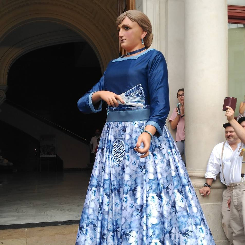 El nou vestit de la Vitxeta, protagonista de la trobada d'aquest dissabte.
